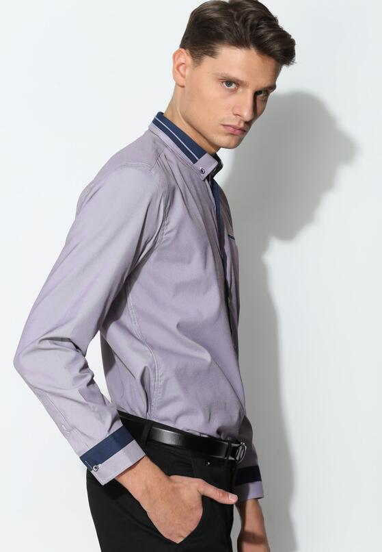 Jasnofioletowa Koszula Modern Class