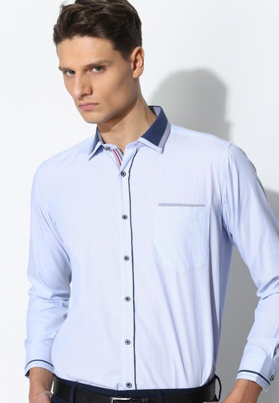 Jasnoniebieska Koszula Darker Collar