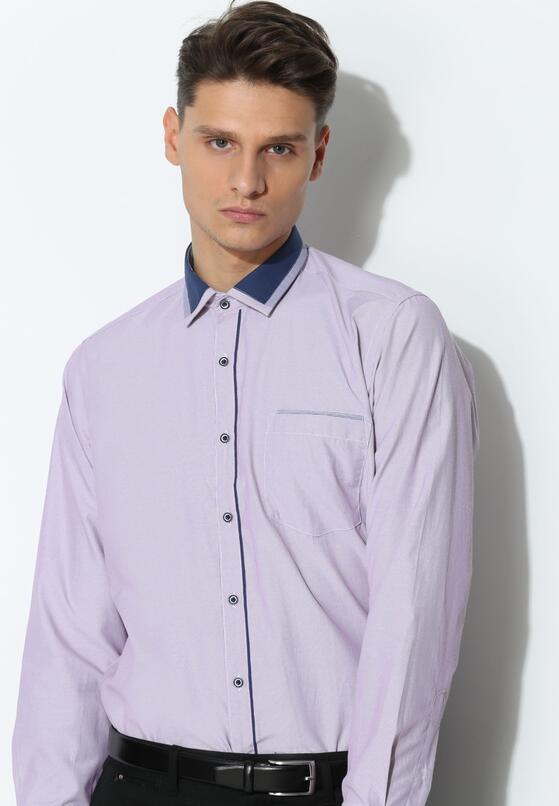 Fioletowa Koszula Darker Collar