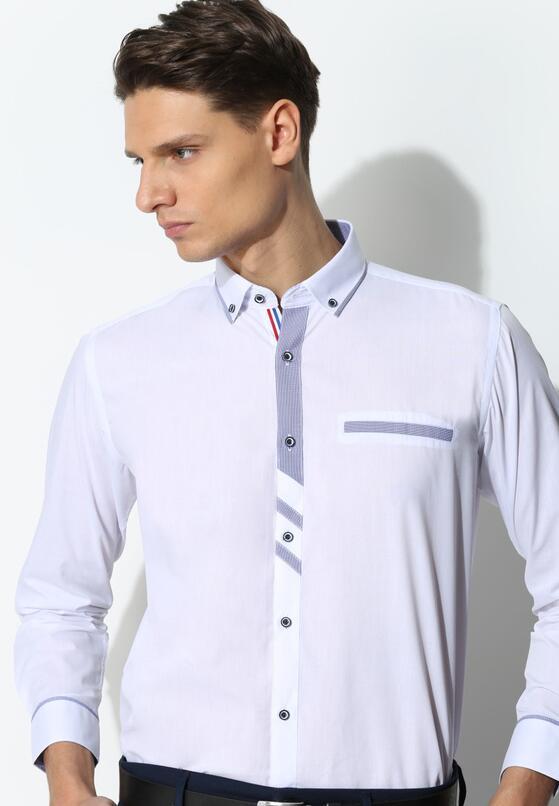 Biało-Niebieska Koszula Modern Line