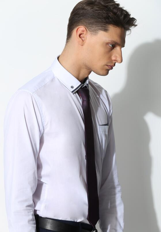 Biało-Granatowa Koszula Modern Line