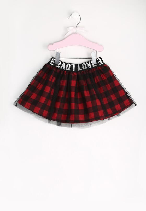 Czarno-Czerwona Spódnica Rebegin