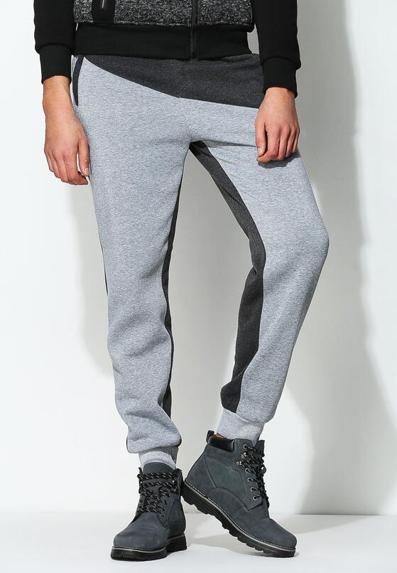Szare Spodnie Dresowe Inner Cut