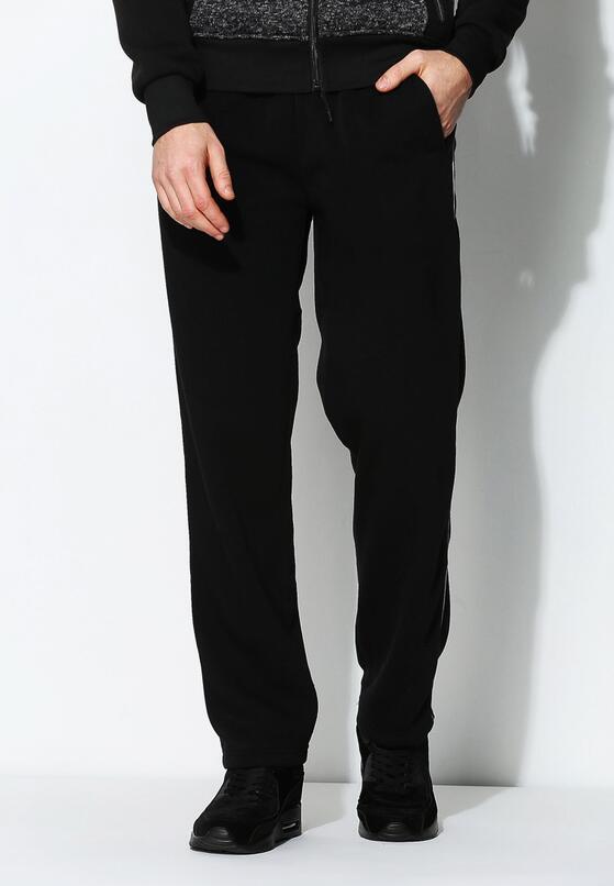 Czarne Spodnie Dresowe Thin Line
