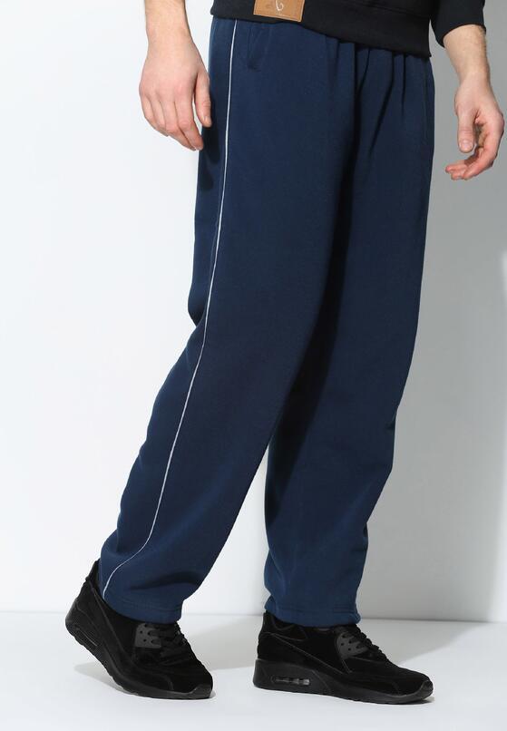 Ciemnoniebieskie Spodnie Dresowe Thin Line