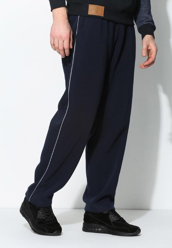 Granatowe Spodnie Dresowe Thin Line