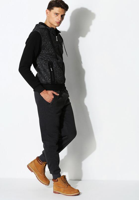 Ciemnoszare Spodnie Dresowe Comfort Fit