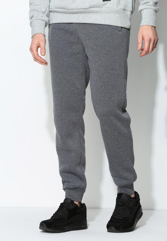 Szare Spodnie Dresowe Comfort Fit