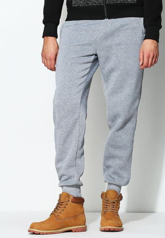 Jasnoszare Spodnie Dresowe Comfort Fit
