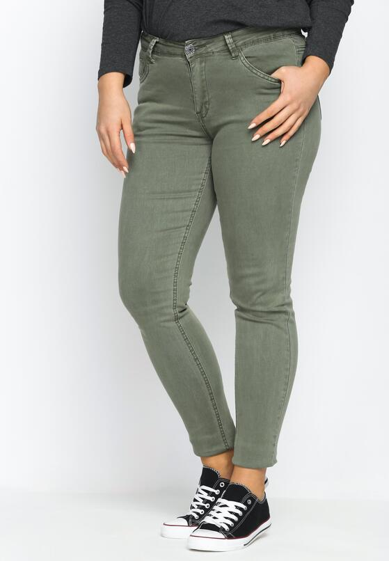 Zielone Jeansy Natural