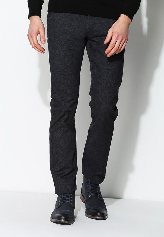 Ciemnoszare Spodnie Formal Cut
