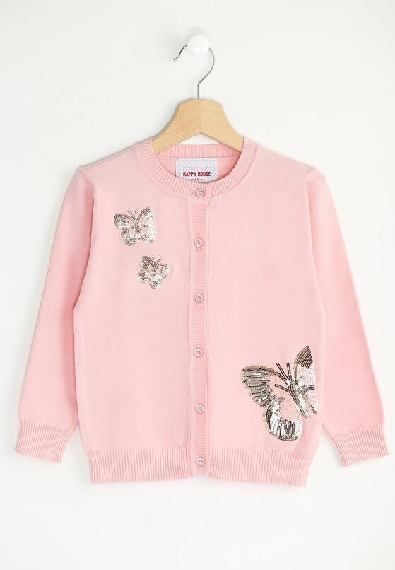 Różowy Sweterek Field Of Butterflies