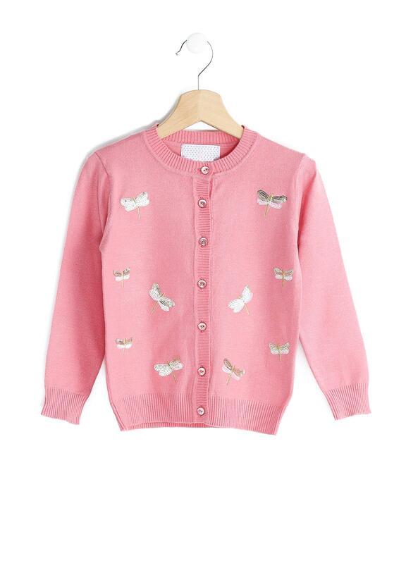 Różowy Sweterek Shiny Dragonflies