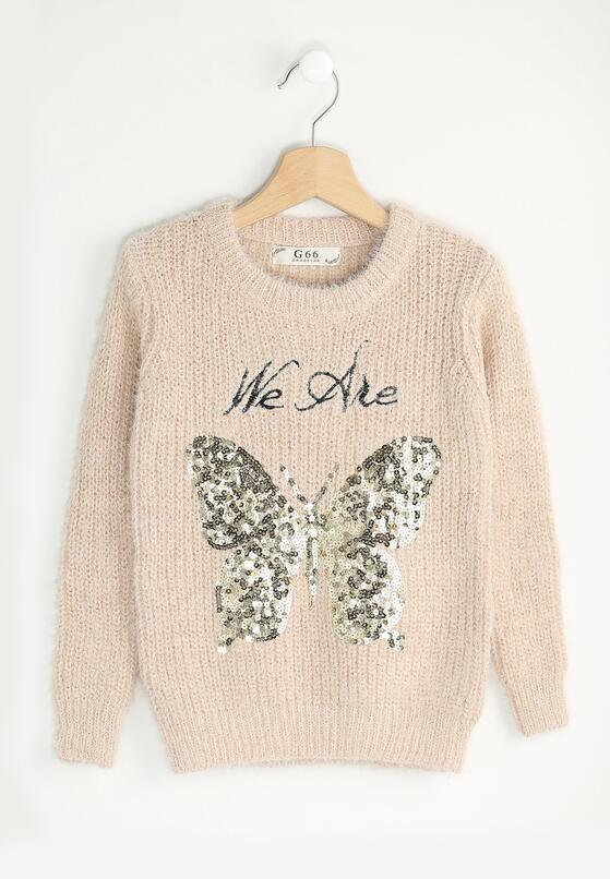 Różowy Sweterek We Are Butterflies