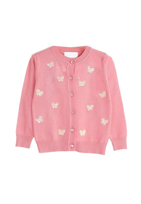 Różowy Sweterek Sequin It