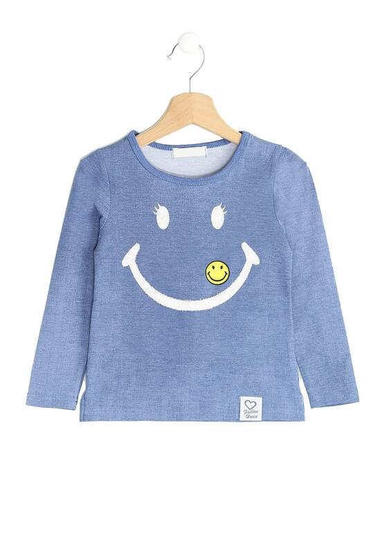 Niebieska Bluzka Yellow Smiles
