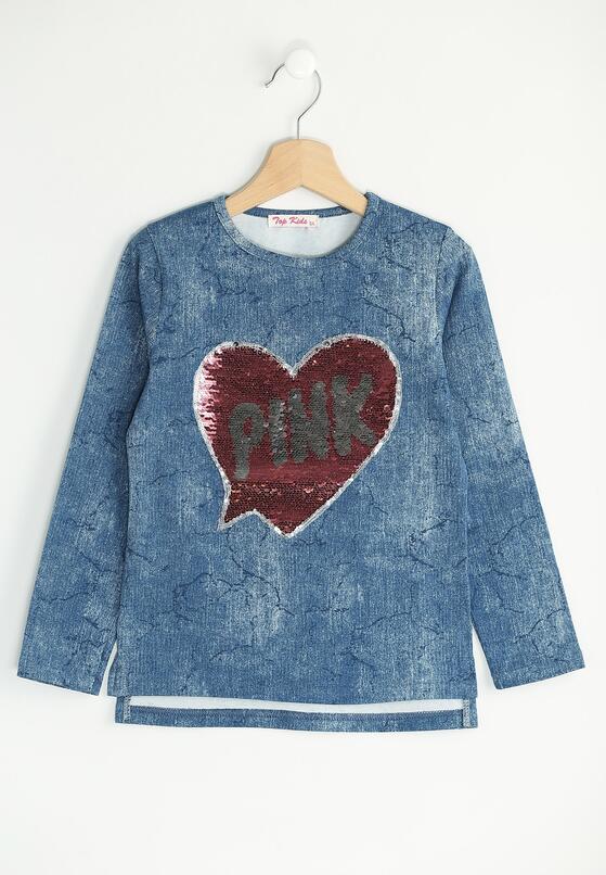 Niebieska Bluzka Shape of My Heart