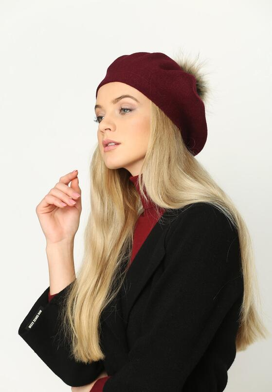 Bordowy Beret French Classic