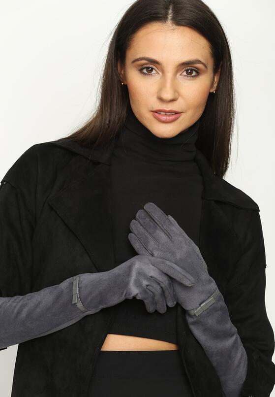 Ciemnoszare Rękawiczki Elbows
