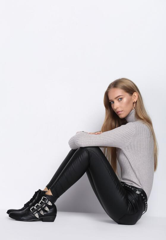 Czarne Spodnie Black As Tar