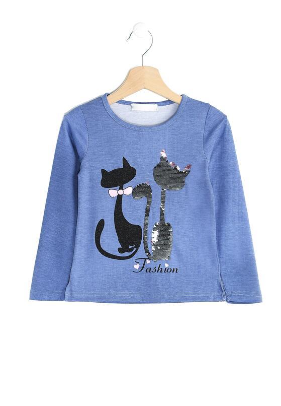 Ciemnoniebieska Bluzka Love Cats