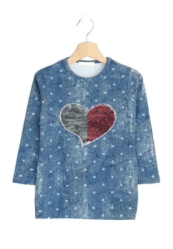 Niebieska Bluzka Half Heart