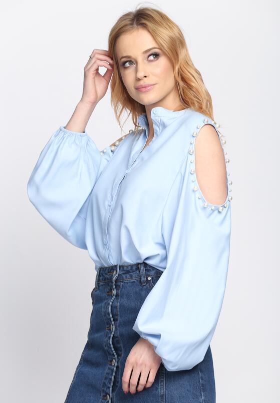Niebieska Koszula Hold Appeal