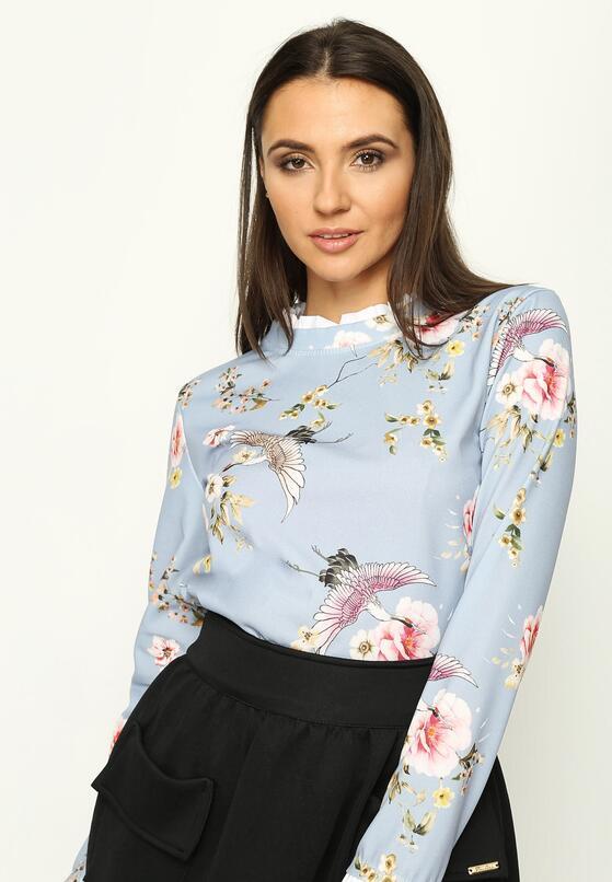 Jasnoniebieska Bluzka Flowery