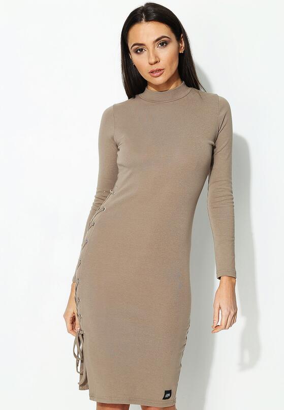Beżowa Sukienka Taupe