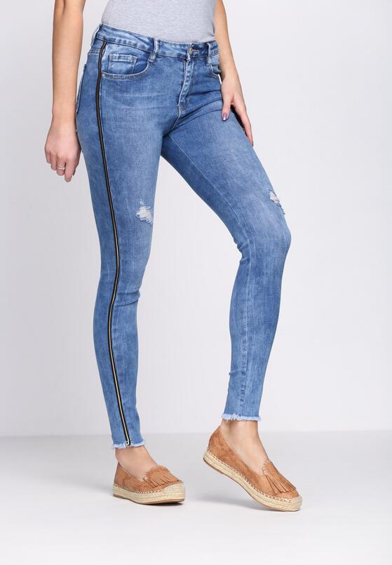 Niebieskie Jeansy Hair Stroke