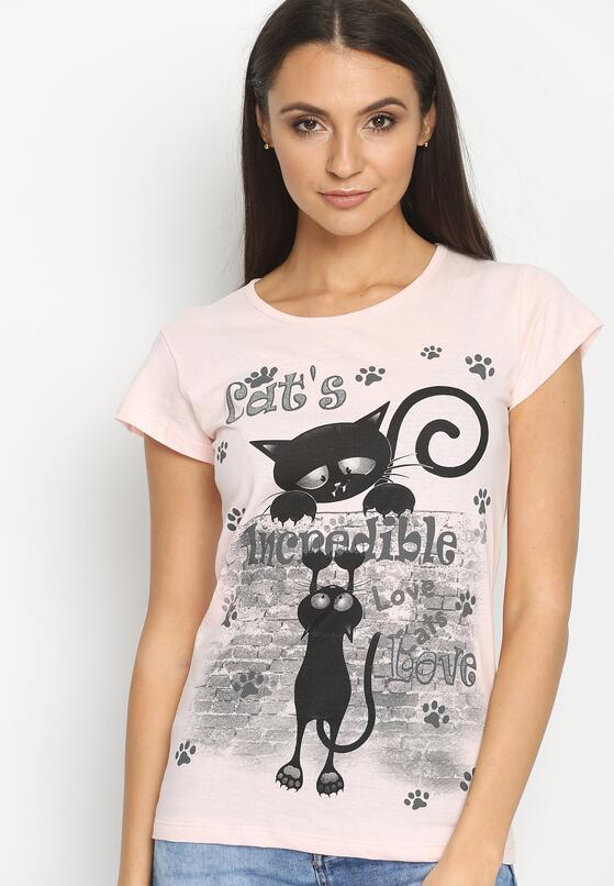 Różowy T-shirt Incredible