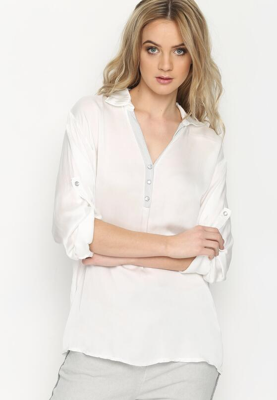 Biała Bluzka Lace On Back