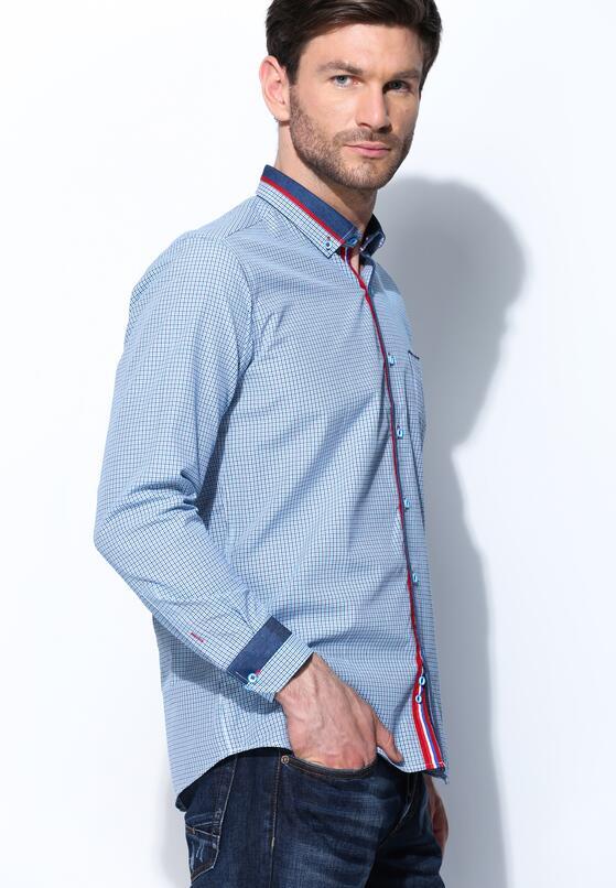 Niebieska Koszula Pinprick