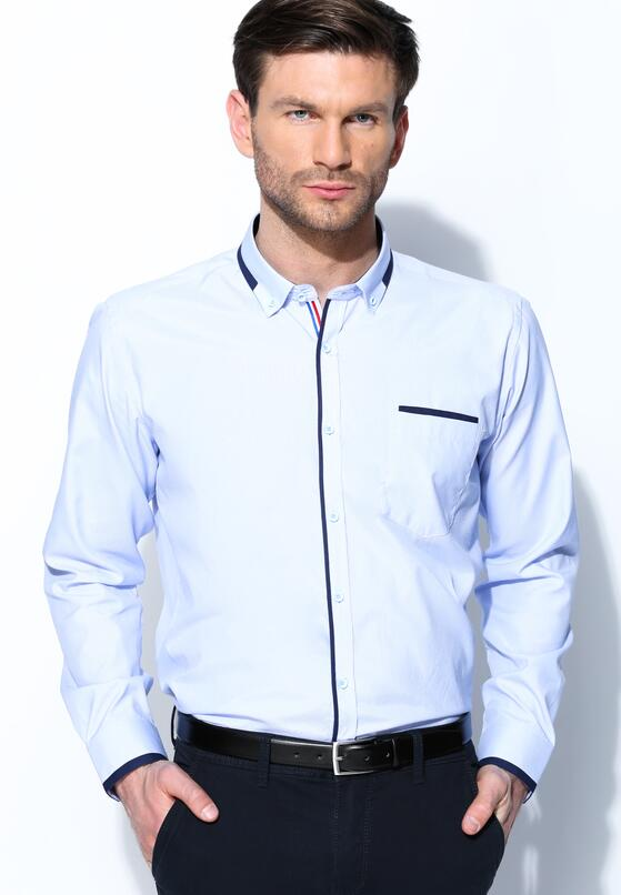 Niebieska Koszula Fancy Cuff
