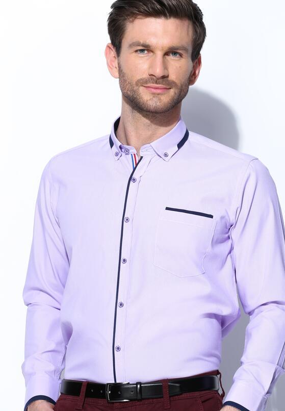 Fioletowa Koszula Fancy Cuff