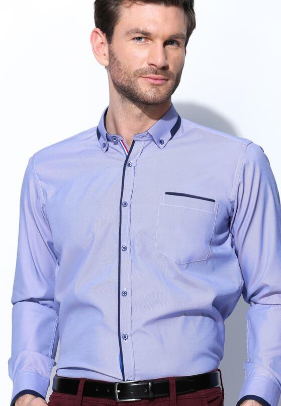 Ciemnofioletowa Koszula Fancy Cuff