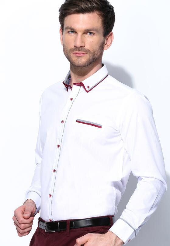 Biało-Bordowa Koszula Heavily