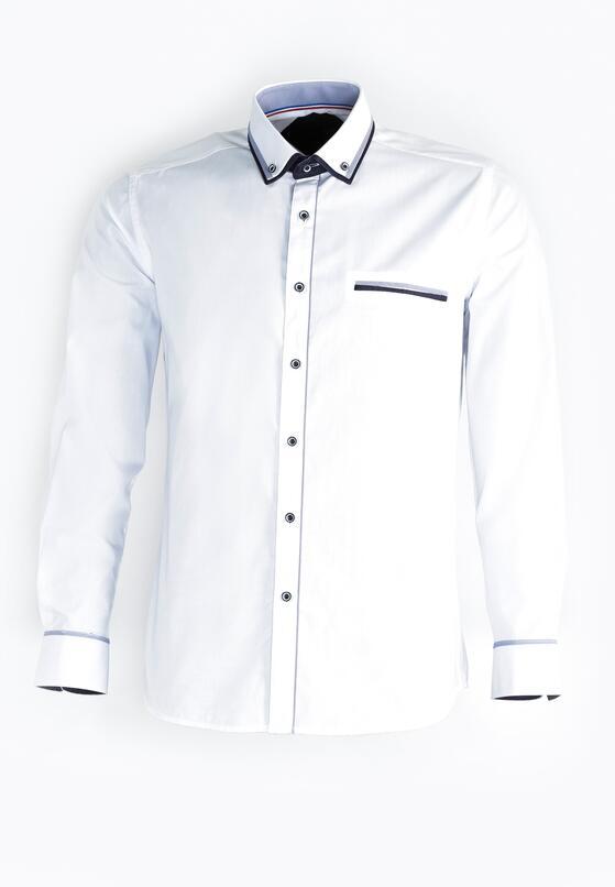 Granatowo-Biała Koszula Heavily
