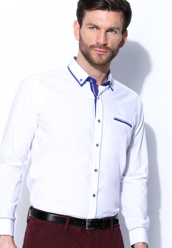 Biało-Niebieska Koszula Heavily