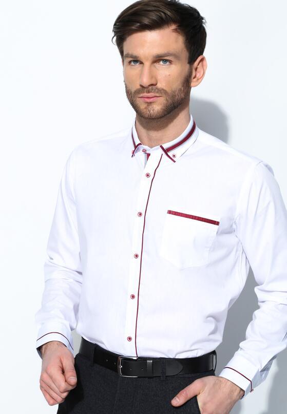Biało-Bordowa Koszula High Spirits
