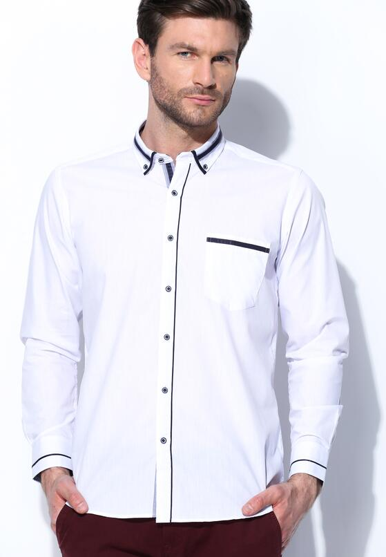 Biało-Granatowa Koszula High Spirits