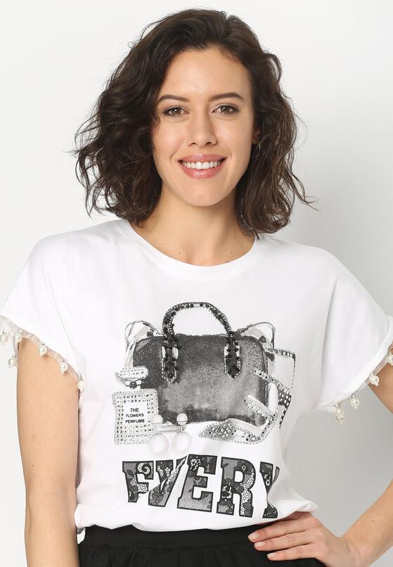 Biały T-shirt Voyager