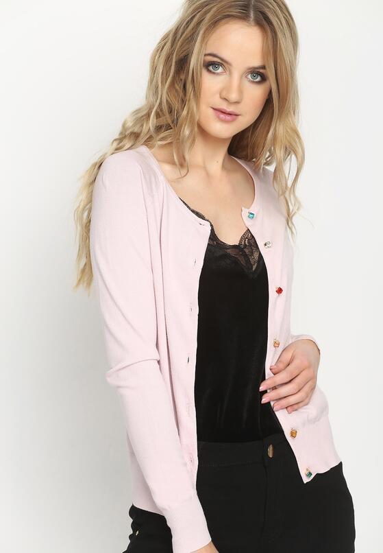 Różowy Kardigan Coloristic