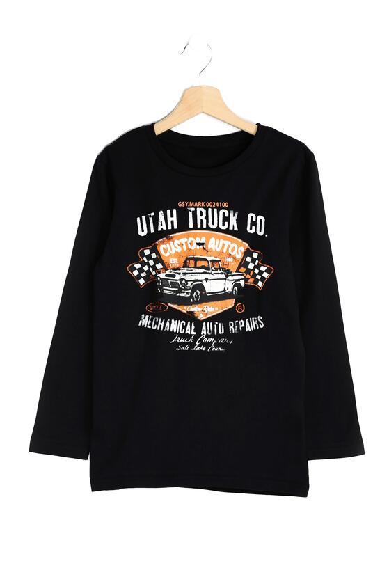 Czarna Koszulka Auto Truck