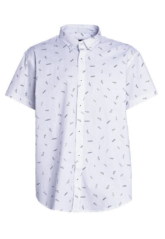 Biało-Niebieska Koszula Antique