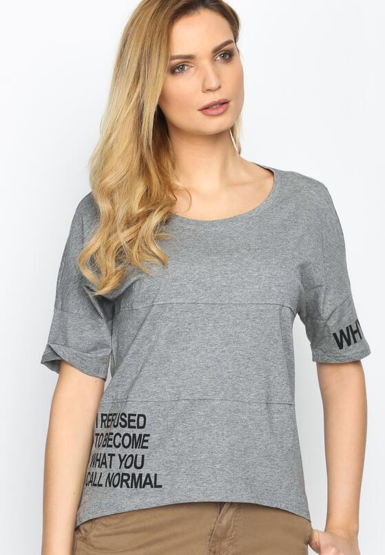 Szary T-shirt Refused