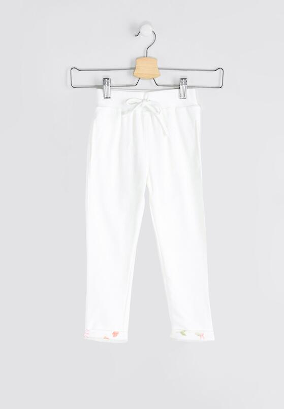 Białe Spodnie Dresowe Pinup