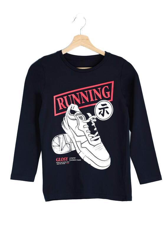 Granatowa Koszulka Running Day
