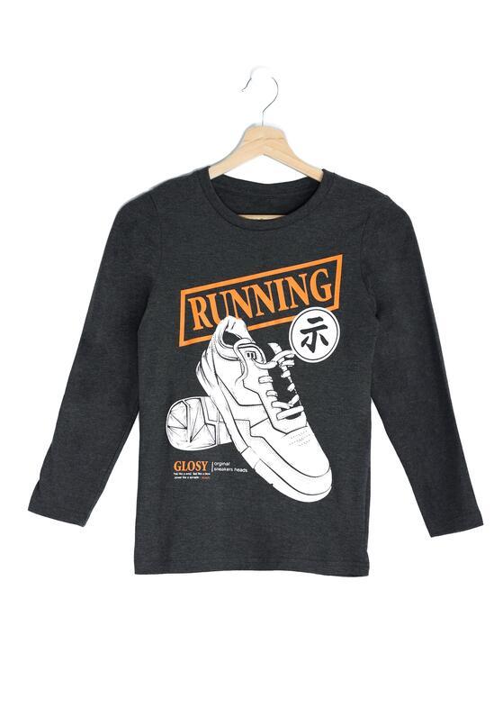 Ciemnoszara Koszulka Running Day