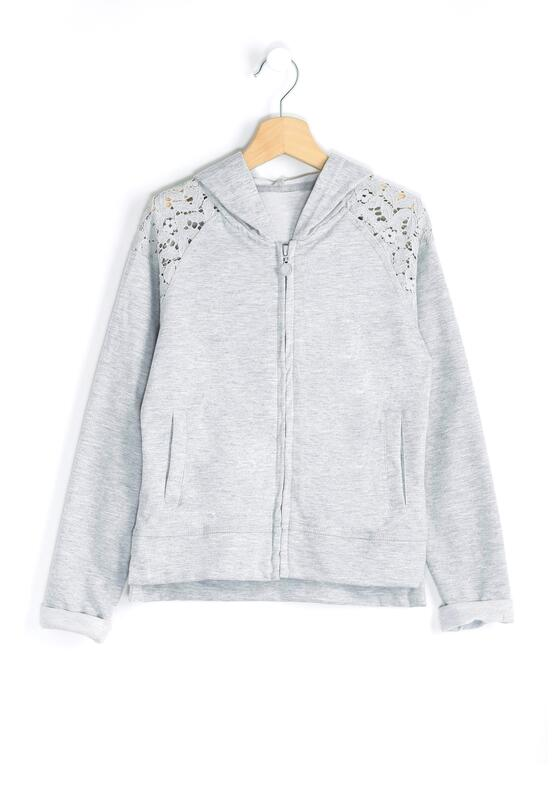Szara Bluza Lace-Maker